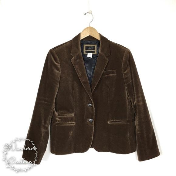 J. Crew Jackets & Blazers - J. Crew Velvet Schoolboy Petite Blazer